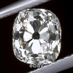 1.14ct ANTIQUE G COLOR OLD MINE CUT DIAMOND CUSHION VINTAGE LOOSE ESTATE NATURAL