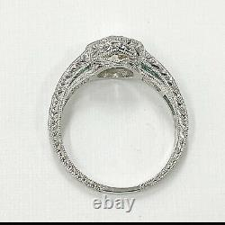 1.28 ct Vintage Antique Old European Cut Diamond Engagement Ring In Platinum