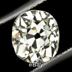 1.56ct VS1 OLD MINE CUT DIAMOND ANTIQUE VINTAGE CUSHION BRILLIANT NATURAL 1.5ct
