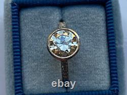 1.60 ct Vintage Antique Old European Cut Diamond Engagement Ring in Platinum