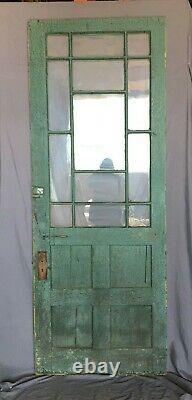 1 Antique Exterior Farmhouse 35x91 Entryway Door Vintage Green Old 451 -21B