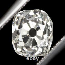 1 Carat Certified G Si1 Old Mine Cut Diamond Antique Cushion Brilliant Vintage