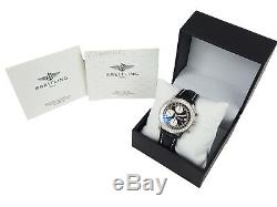 100%Auth BREITLING Old Navimeter A13022 41mm Chronograph Automatic Vintage