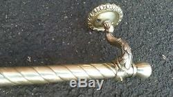 1500mm LONG ANTIQUE Vintage BRASS CURTAIN POLE RAIL C1920 OLD ORNATE French MU