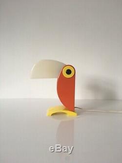 1960s Italian Old Timer Ferrari Toucan Children's Lamp Light Vintage Verona