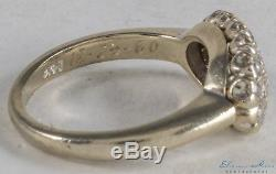 1ctw VINTAGE OLD EUROPEAN CUT DIAMOND NAVETTE ANTIQUE CLUSTER RING