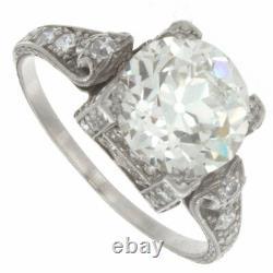 2.30ct Certified Old European Cut Diamond Art Deco Antique Engagement Ring
