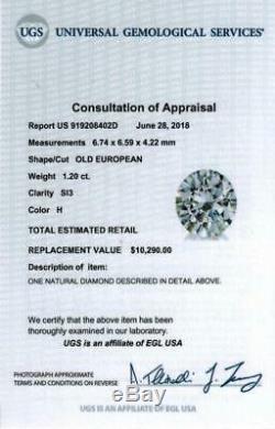 2.38c CERTIFIED VINTAGE DIAMOND STUD EARRINGS OLD EUROPEAN CUT ANTIQUE 2.5 CARAT