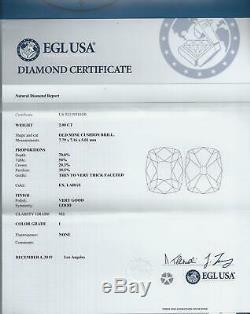 2 Carat Certified Old Mine Cut Diamond I Si2 Antique Vintage Cushion Brilliant