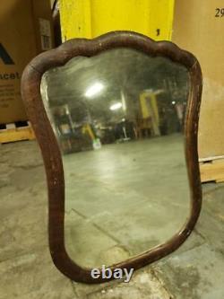 20x26 Antique Vintage Old Oak Wood Wooden Wall Dresser Vanity Beveled Mirror