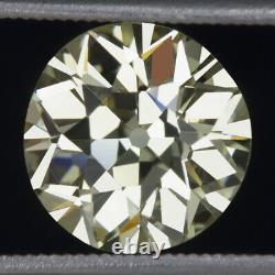3.25ct GIA CERTIFIED VS1 OLD EUROPEAN CUT DIAMOND VINTAGE ANTIQUE LOOSE NATURAL