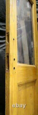 32x79.5x1.75 Antique Vintage Old Oak Wood Wooden Door Window Glass Lite Pane
