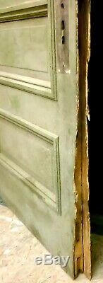 32x79 Antique Vintage Old SOLID Wood Wooden Exterior Entry Door Window Glass