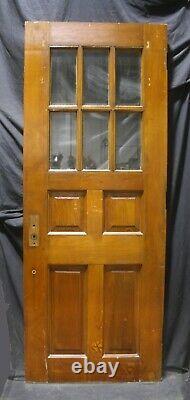 32x82x1.75 Antique Vintage Old SOLID Wood Wooden Door 6 Window Beveled Glass