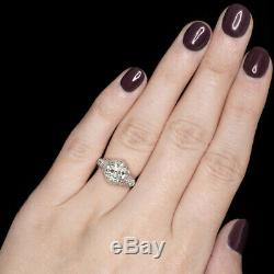 3ct VS1 OLD EUROPEAN CUT DIAMOND ENGAGEMENT RING 18k ART DECO VINTAGE ANTIQUE
