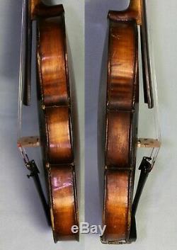 4/4 FINE 100+ years OLD ANTIQUE VIOLIN with FULL SOUND, labelled Aegidius Kloz
