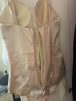 Agent provocateur corset Old Hollywood Glamour Champagne Bodysuit One Piece 34D