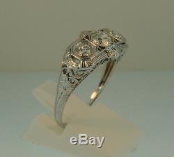 Antique 14K Old Mine Cut Diamond Art Deco Ring-1.02ctw