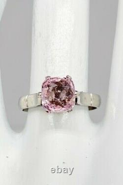 Antique 1920s $8000 2.50ct Natural NO HEAT Pink Old Cut Sapphire Platinum Ring