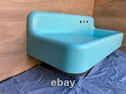 Antique 52 Cast Iron Jadeite Green Porcelain Farm Sink Old Vtg Kohler 124-21E