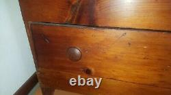 Antique Blanket Chest American Pine Trunk Primitive Very Old Rare