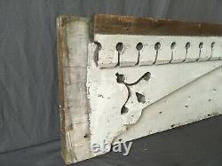 Antique Door Window Header Wood Pediment Shabby Vtg Chic Old 166-19E