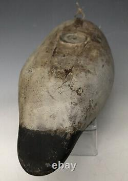 Antique Duck Decoy c. 1915 Mason Goldeneye Drake, Glass Eye Model with Old Repaint