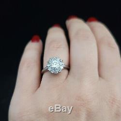 Antique Engagement Ring 1.05ct Old European Cut Diamonds 18&14k Gold Halo Estate