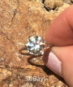 Antique Old Mine Cut Diamond Ring 1.95cts. K VS LOW RESERVE Art Deco