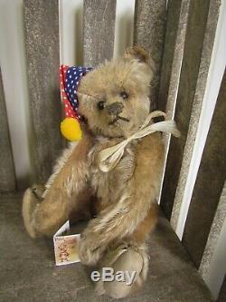 Antique Old Mohair Steiff Teddy Bear Ff Button Rare 8 Inches