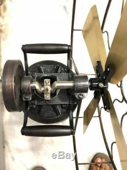 Antique Style Vintage STEAM Fan Working Model Old style table Kerosene Replica