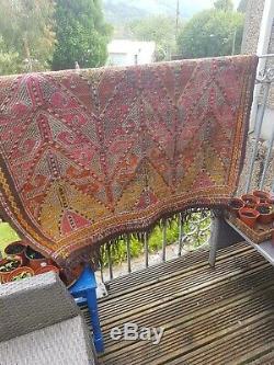 Antique Turkish Kilim Rug REDUCED vintage old wool Kelim 141cm by 115cm