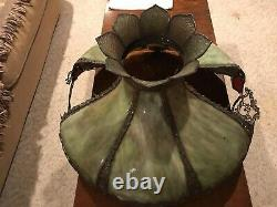 Antique Victorian Slag Glass 24 Lamp Shade Find From Old Ohio Mansion Ornate