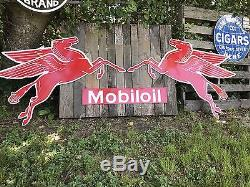 Antique Vintage Old Look Mobil Left Facing Pegasus Sign! FREE SHIPPING