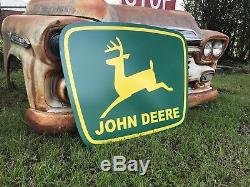 Antique Vintage Old Style John Deere Green Yellow 39 Farm Sign