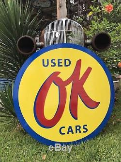 Antique Vintage Old Style Ok Used Cars Sign