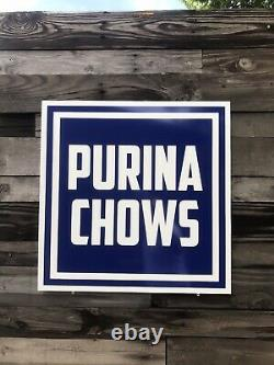 Antique Vintage Old Style Purina Chows Signs