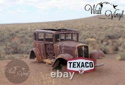 Antique Vintage Old Texaco Motor Oil Sign