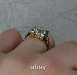 Antique Vs 3.36ct Old Cut Diamond and 18ct Gold Solitaire Engagement Ring