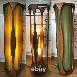 Antique Vtg 1950s 1960s MCM Mid Century Wood Floor Lamp Light DANISH Atomic Old