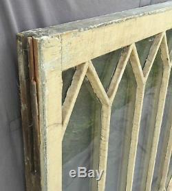 Antique Window Diamond Sash Pattern Old Shabby Cottage Chic Garden Vtg 985-16
