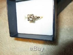 Antique diamond old miner cut ring