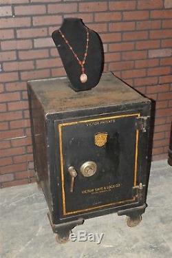 Antique old VICTOR SAFE & Lock Company vintage original
