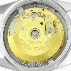 BULOVA Super Seville Day Date Stainless Steel Mens Wrist Watch New Old Stock