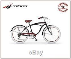 Bike 26 Mbm Honolulu Cruiser Man 6 Speed Vintage Balck Cycling Old Stile