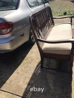 Burled Walnut Williams & Mary Settee. Excellent Condition Very Old