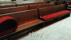 Church Pews 20 feet long solid oak, 100 years old only 6 pews for sale