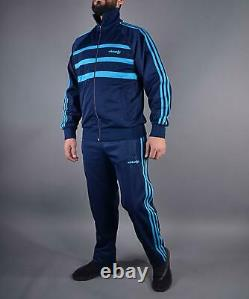 Classical Adidas mens tracking suit vintage old school tracksuit BLUE ZEBRA