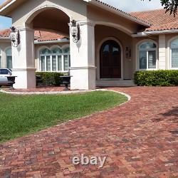 Clay Brick Terracotta Driveway Old Chicago Pavers Pool deck 4x8x2 Rustic Antique