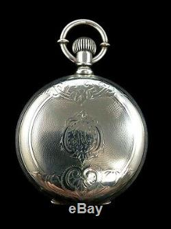 Columbus 18s 16 J 132 Years Old Fancy Silver Hunter Case Fine Condition